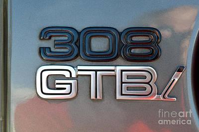 1981 Ferrari 308gtbi Badge Poster