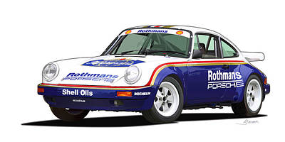 1984 Porsche 911 Sc Rs Illustration Poster by Alain Jamar