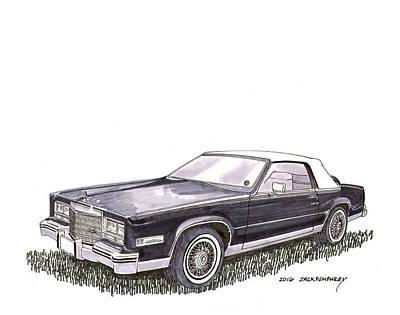 1985 Cadillac El Dorado Convertible Poster by Jack Pumphrey