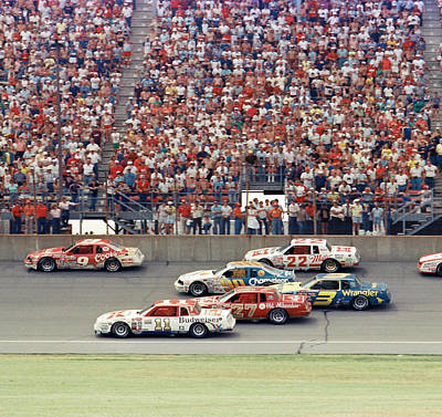 1985 Nascar Michigan 400 Race Action Poster by David Bryant
