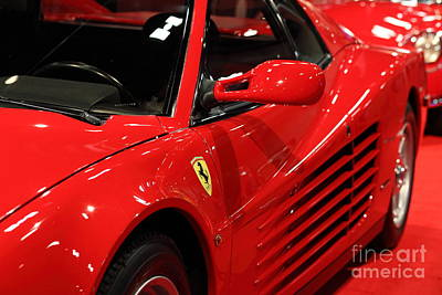 1986 Ferrari Testarossa - 5d20028 Poster by Home Decor