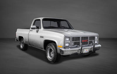 1986 Gmc Sierra Classic 1500 Series Pickup Truck-2 Poster by Frank J Benz