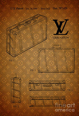 1986 Louis Vuitton Suitcase Patent 3 Poster by Nishanth Gopinathan