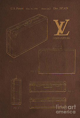 1986 Louis Vuitton Suitcase Patent 4 Poster by Nishanth Gopinathan