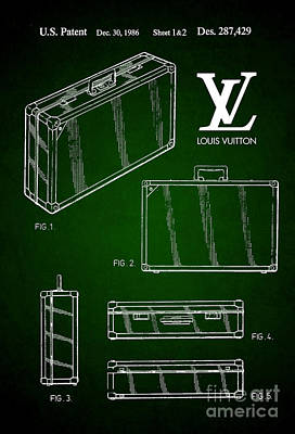 1986 Louis Vuitton Suitcase Patent 5 Poster by Nishanth Gopinathan