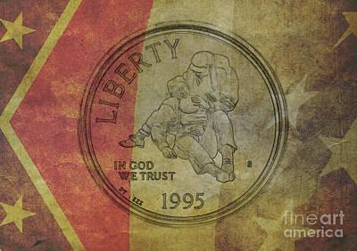 1995 Civil War Silver Dollar Poster
