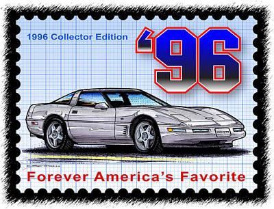 1996 Collector Edition Corvette Poster
