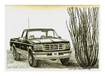1996 Ford Pick Up Ocatillo  Poster by Jack Pumphrey