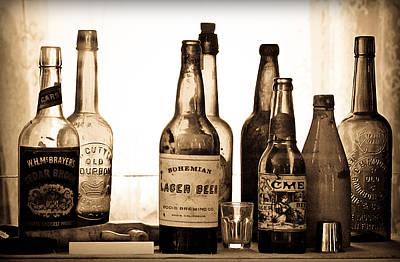 19th Century Liquor Bottles  Poster