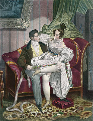 19th Century Lovers In A Drawing Room Poster