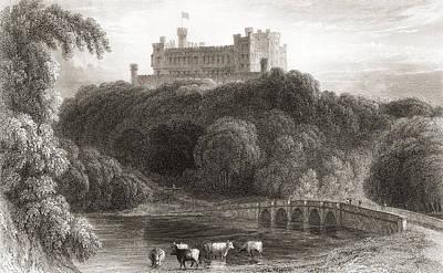 19th Century View Of Belvoir Castle Poster