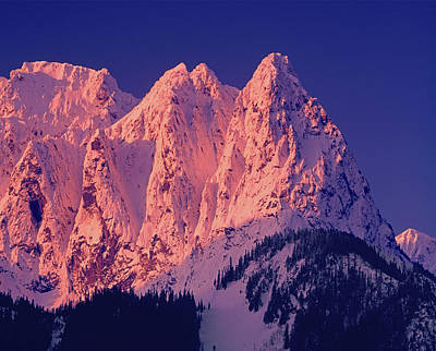 1m4503-a Three Peaks Of Mt. Index At Sunrise Poster