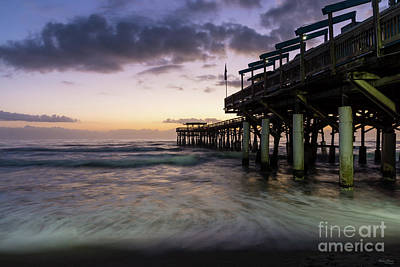 1st Dawn Cocoa Pier Poster by Jennifer White