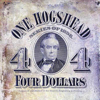 1898 Hogshead Beer Tax Stamp Poster by Jon Neidert