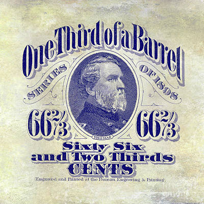 1898 One Third Beer Barrel Tax Stamp Poster