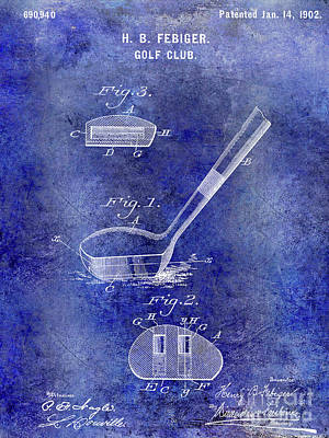 1902 Golf Club Patent Poster by Jon Neidert