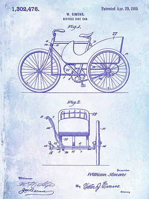 1919 Bicycle Patent Poster by Jon Neidert