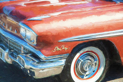 Poster featuring the photograph 1958 Pontiac Star Chief  by Rich Franco