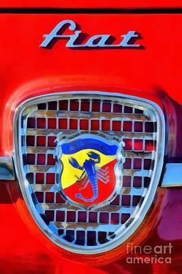 1961 Fiat Abarth 750gt Allemano Spider Poster