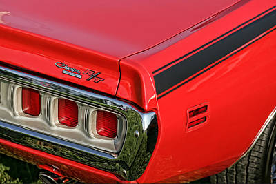 1971 Dodge Charger Rt Poster by Gordon Dean II