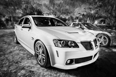 2008 Pontiac Gt8 Painted Bw   Poster