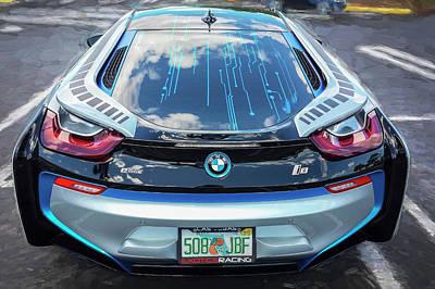 2015 Bmw I8 Hybrid Sports Car Poster