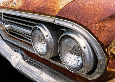 Poster featuring the photograph 50s Chevrolet Front End by Jim Hughes
