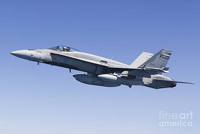 A Cf-188a Hornet Of The Royal Canadian Poster