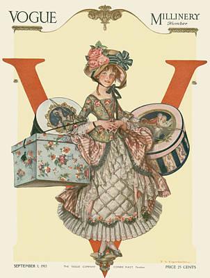 A French Shepherdess Poster by Frank X Leyendecker