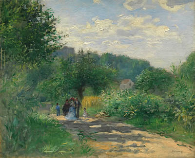 A Road In Louveciennes Poster by Auguste Renoir