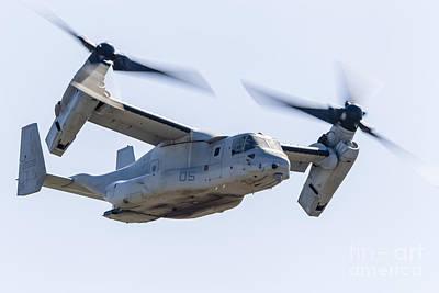 A U.s. Marine Corps V-22 Osprey Flies Poster