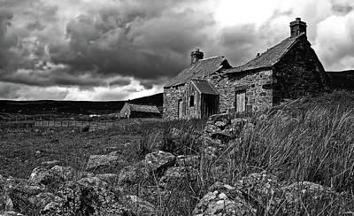 Abandoned Cottage - Scotland Poster