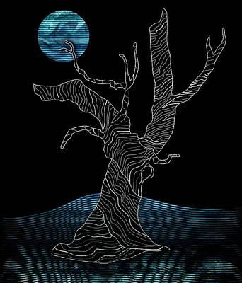 Abstract Gnarly Tree Poster