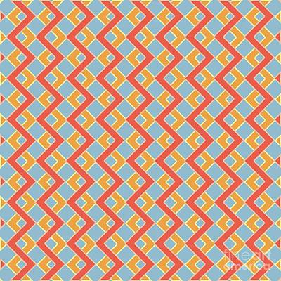Abstract Orange, White And Red Pattern For Home Decoration Poster by Pablo Franchi