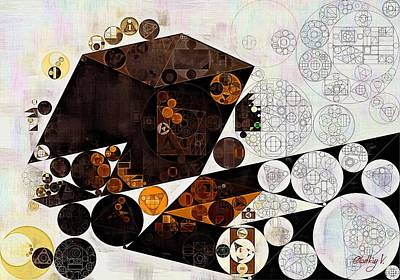 Abstract Painting - Dark Wood Poster by Vitaliy Gladkiy