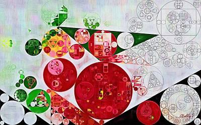 Abstract Painting - Deep Fir Poster by Vitaliy Gladkiy