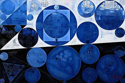 Abstract Painting - Yale Blue Poster by Vitaliy Gladkiy