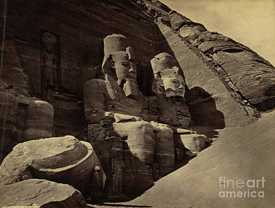 Abu Simbel Temple, 1850s Poster by Science Source