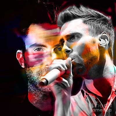 Adam Levine Maroon 5 Poster by Marvin Blaine