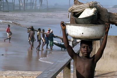 African Fishermen Poster