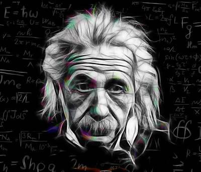 Albert Einstein Collection Poster by Marvin Blaine