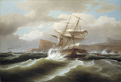 An American Ship In Distress Poster