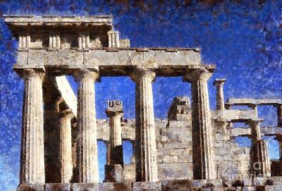 Aphaia Athina Temple Poster