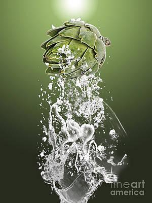 Artichoke Splash Poster