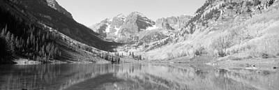 Aspens And Morning Light, Maroon Bells Poster by Panoramic Images