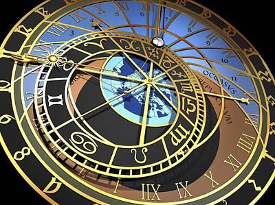 Astronomical Clock, Artwork Poster
