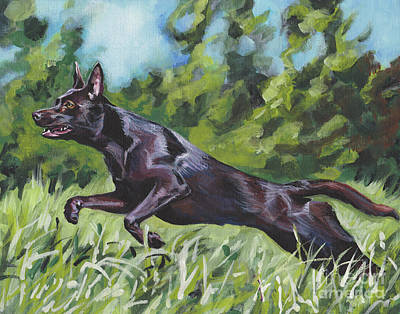 Poster featuring the painting Australian Kelpie by Lee Ann Shepard