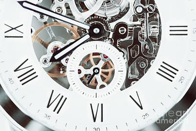 Automatic Men Watch With Visible Mechanism Poster by Radu Bercan