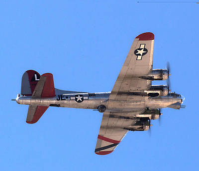 Poster featuring the photograph B-17 Bomber by Dart Humeston