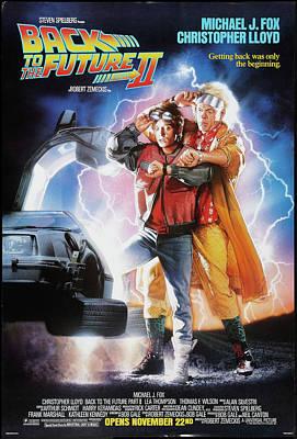 Back To The Future Delorean Part 2 Poster